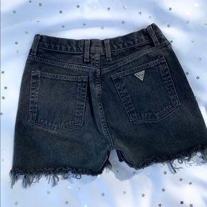 Vintage Guess black high waisted denim shorts